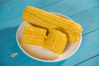 boiled corn stalks