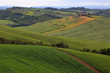 Tuscany farmland hill fields in Italy