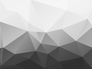 abstract black and white polygonal pattern