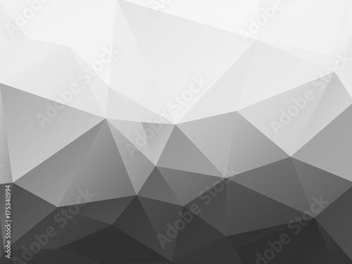 streszczenie czarno-biały wzór wielokąta
