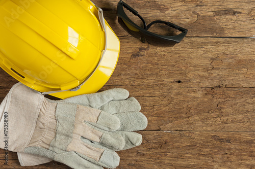 Helmet and construction tools Poster