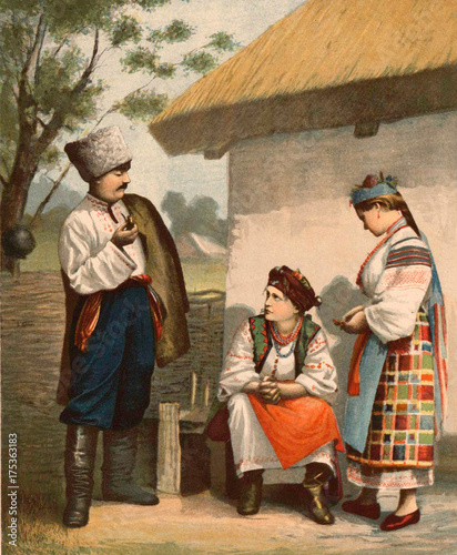 The Ukrainians man and woman. - 175363183