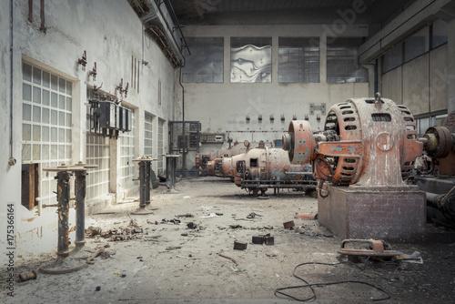 Fotobehang Oude verlaten gebouwen Factory Hall