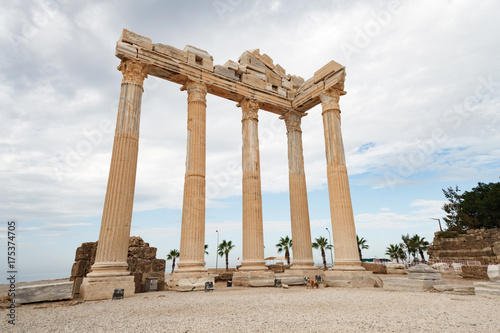 Poster Athene Columns of an ancient Greek temple, ruins