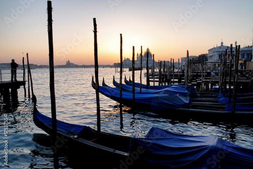 Staande foto Venetie gondolas of Venice in italy