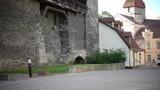 Medieval tower - part of the city wall. Tallinn, Estonia, - 175380369