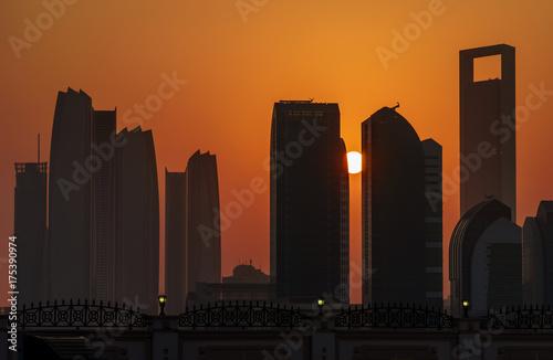 Spoed canvasdoek 2cm dik Abu Dhabi Skyline Abu Dhabi