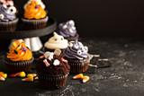 Festive Halloween cupcakes and treats - 175392721