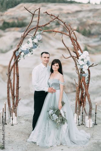 Plakát mystical wedding with owls and unusual place