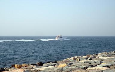 A super yacht in Dubai, United Arab Emirates