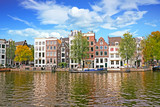 Cityscenic from Amsterdam at the Amstel in the Netherlands - 175403143