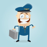funny flight captain or pilot clipart - 175407762