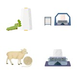 Cotton, coil, thread, pest, and other web icon in cartoon style. Textiles, industry, gear icons in set collection. - 175407954