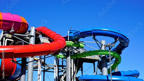 Fotobehang Amusementspark Colorful Water Park