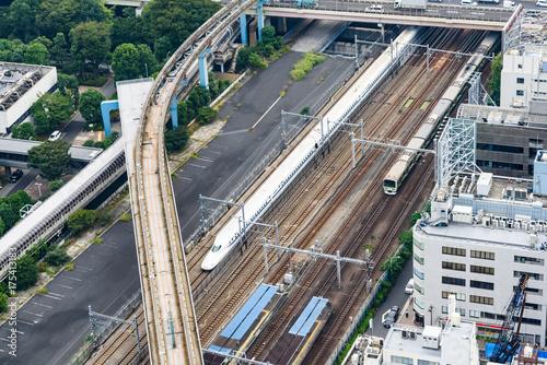 Fotobehang Spoorlijn 新幹線