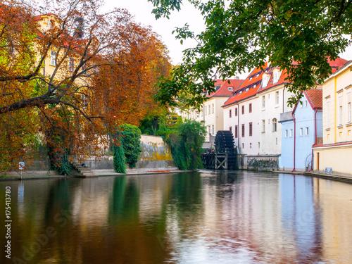 Foto op Canvas Texas Certovka, Devil River, with watermill wheel at Kampa Island, Prague, Czech Republic