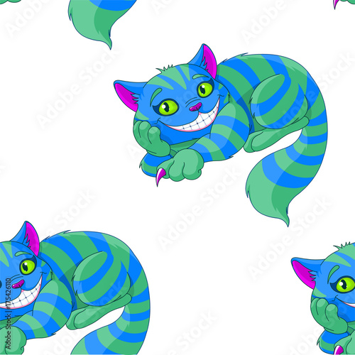 Staande foto Sprookjeswereld Cheshire Cat Pattern