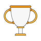 Trophy cup symbol icon vector illustration graphic design - 175432951