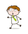 Cartoon Running Man Character Vector