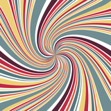 Abstract Line twirl focus with retro color background - 175438132