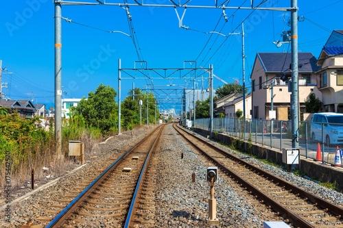 Staande foto Spoorlijn 線路