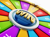 Wheel of fortune isolated on white background. 3D illustration - 175443321