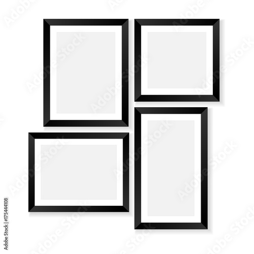 Set of blank photo frames mockups. Poster or photo frame template ...