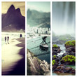 Quadro Collage of Brazil images - travel background