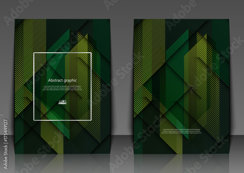 Fotobehang Abstractie Vector geometric abstract background with squares and lines. Flyer template with abstract background. Eps10 Vector illustration.