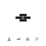 Set Of 5 Editable Structure Icons. Includes Symbols Such As Elevation, Estate, Stone And More. Can Be Used For Web, Mobile, UI And Infographic Design. - 175450133