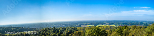 Fotobehang Lente panorama view from a mountain with pinwheels