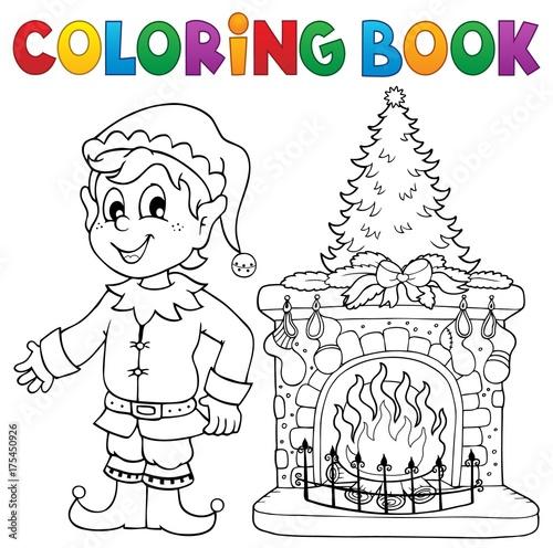 Deurstickers Voor kinderen Coloring book Christmas thematics 8