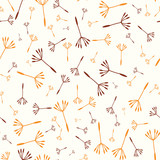 Floral abstract seamless background with colorful dandelions. Vector illustration - 175452589