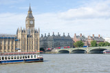 Parliament and Westminster Bridge from South of River Thames - 175452956