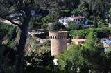 Die Burg von Tossa del Mar, Costa Brava, Spanien
