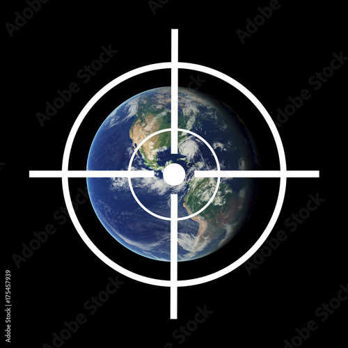 Gunsight over Planet earth - war in space / attack and strike done by extraterrestrial life Poster