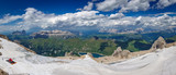 Huge panorama of dolomite mountains from marmolada viewpoint - 175458312