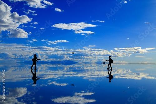 Plexiglas Donkerblauw ウユニ塩湖