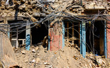 Aftermath of Nepal earthquake 2015, partially collapsed house in Kathmandu - 175463354