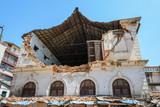 Aftermath of Nepal earthquake 2015, damaged building in Kathmandu - 175463564