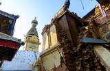 Aftermath of Nepal earthquake 2015, destruction at Swayambhunath in Kathmandu - 175463738