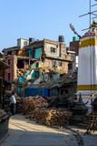 Aftermath of Nepal earthquake 2015, destruction at Swayambhunath in Kathmandu - 175463758