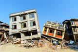 Aftermath of Nepal earthquake 2015, collapsed buildings in Kathmandu - 175463799