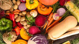 assorted raw fruit and vegetable - 175466507