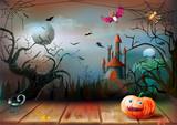 Halloween spooky night background - 175466546