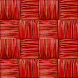 woven fabric with natural patterns of red fabric. 3d rendering. - 175468765