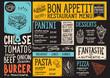 Food menu restaurant template. - 175471921