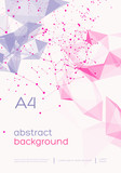 3D Abstract Mesh Background with Circles, Lines and triangular Shapes Design Layout for Your Business. Vector Illustration
