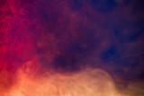 colorful smoke on dark blue background - 175477513