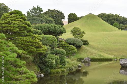 Fotobehang Pistache 水前寺成趣園
